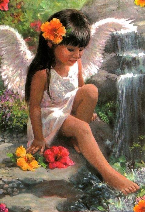"""свой цитатник или сообщество!  Dimensions есть схема вышивки крестом.   """"Passio Flower Angel """".  Ангелы и дети Laurie..."""