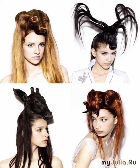 креативные прически на длинные волосы в школу
