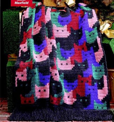 Схема. вязание крючком (75) (581x700, 295Kb). вязание крючком, вязание спицами, плед, Плед Hexagon Blanket дизайнера...