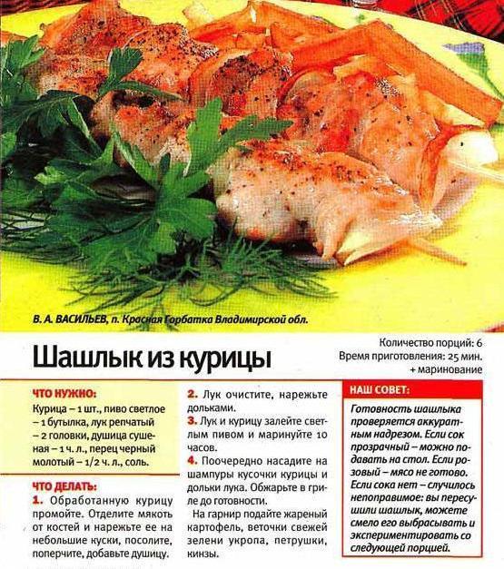 Шашлыки свиные рецепт