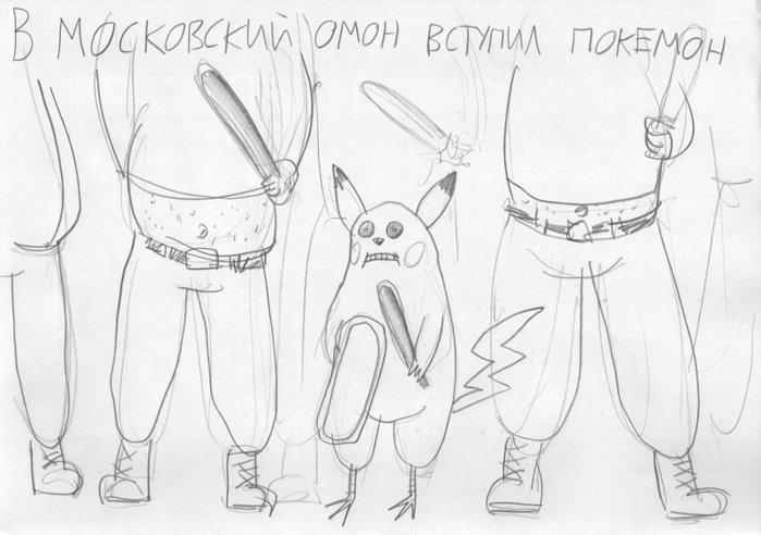 веселые рисунки карандашом: