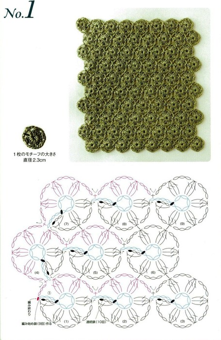 Lace Crochet magazine: flowers crochet patterns.