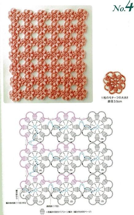 Вязание крючком без отрыва нити может использоваться при вязании шарфов, шалей, салфеток.