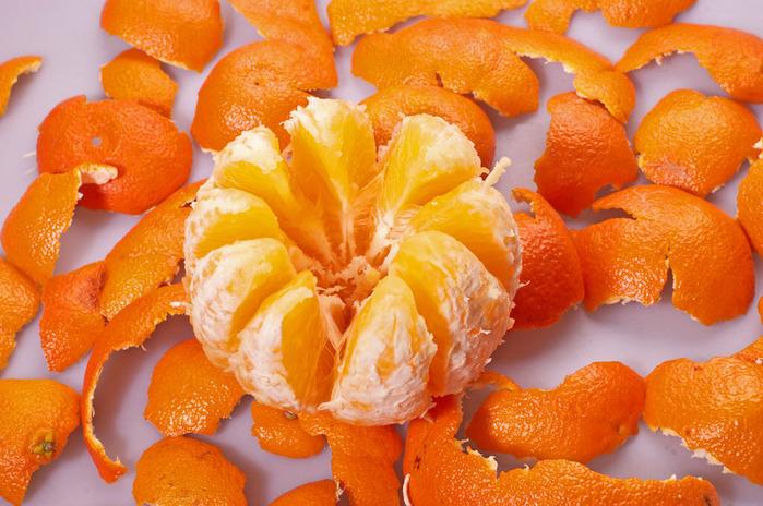 Пять долек апельсина полностью