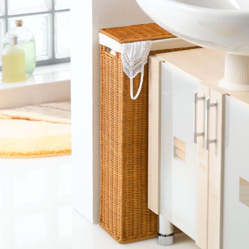 Узкая корзина для белья в ванную 15 см своими руками