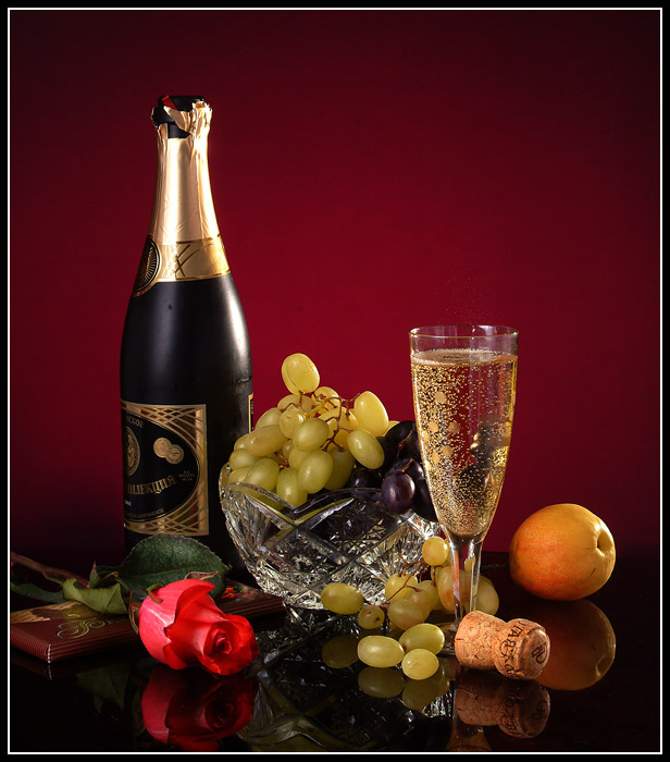 картинки вечер с шампанским