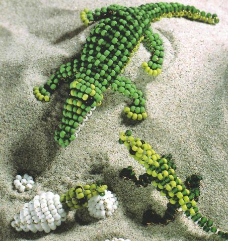крокодил из бисера для начинающих - Бисероплетение для Всех!