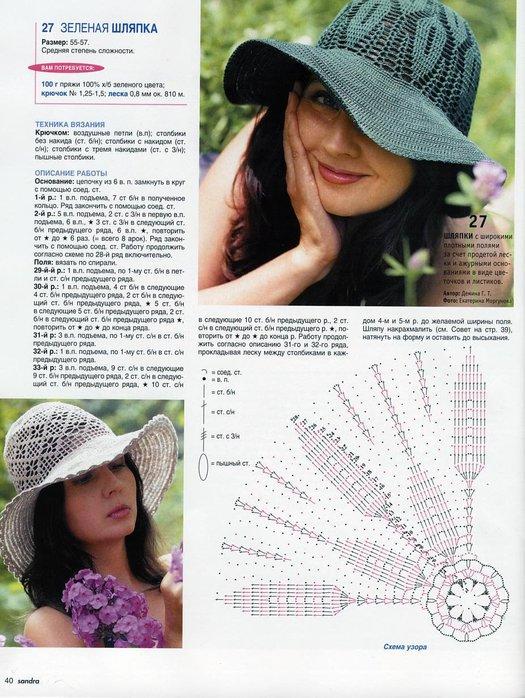 Вязание крючком летних шляпок для начинающих шляпок