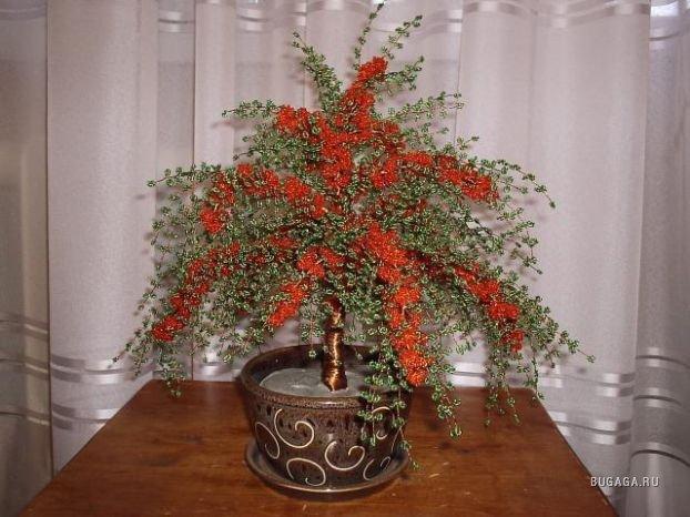 Цветы и деревья из бисера(с обновлениями, плетение шнуров и шнурочков.