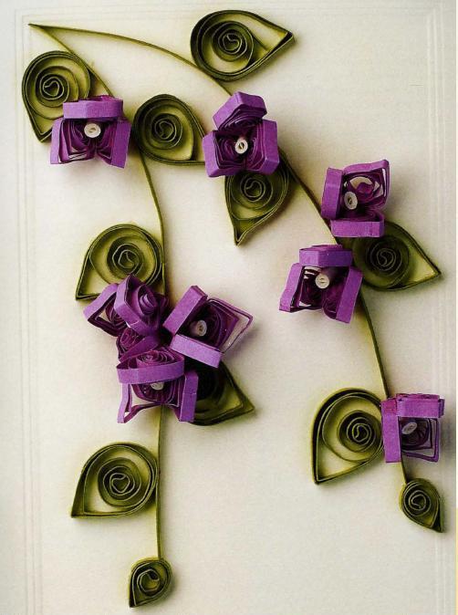 Как сделать цветы из бумажной ленты своими руками