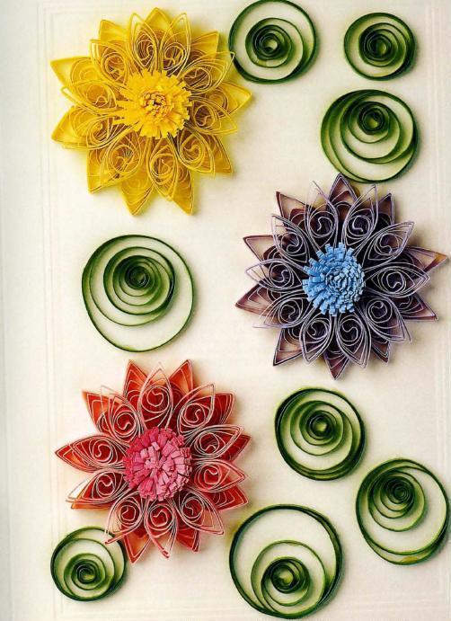 Цветок из бумажной ленты своими руками