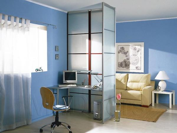 Хорош голубой и в офисе в той комнате