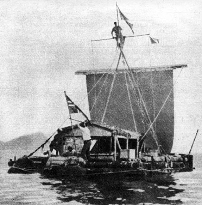 Тур Хейердал отправился в путешествие на плоту «Кон-Тики»