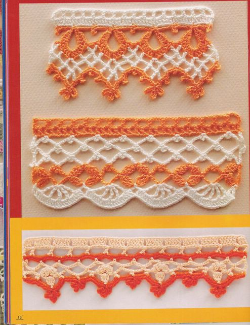 Несколько вариантов обвязки края салфеток, скатертей, полотенец и многих других изделий.