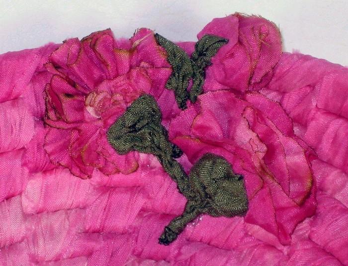Коврики из лоскутков крючком ткани