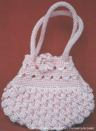 Вязание сумок крючком со схемой.