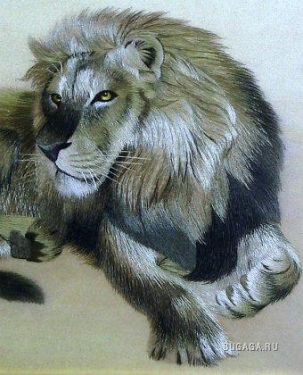 Схема вышивки Король лев
