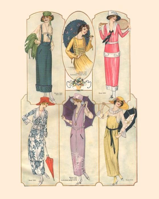 20 - е годы прошлого столетия характеризуются.  Мода на платья от 20х до...