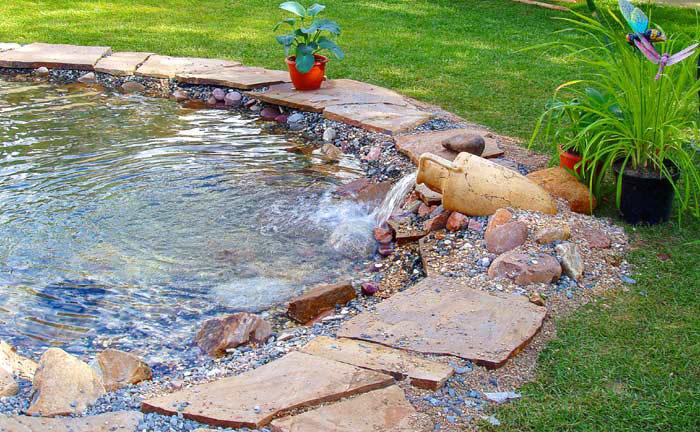 Как правильно сделать фонтан на даче