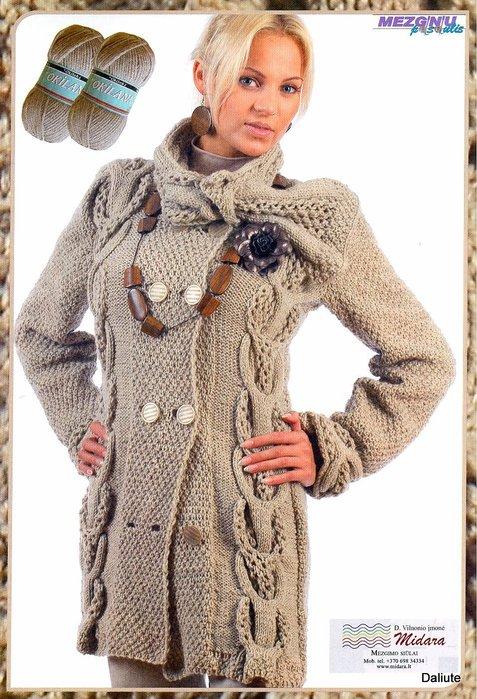 Вязание спицами, пальто из Mezginiu pasaulis 2009_ziema.