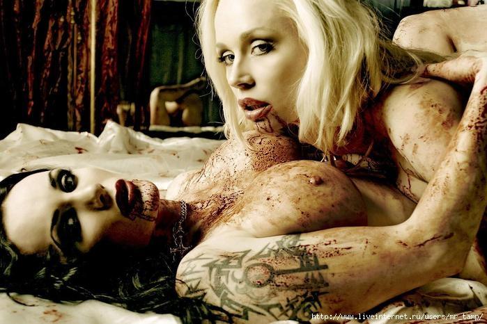 Жесткая эротика в стиле ВАМПИРЫ (8 фото) .