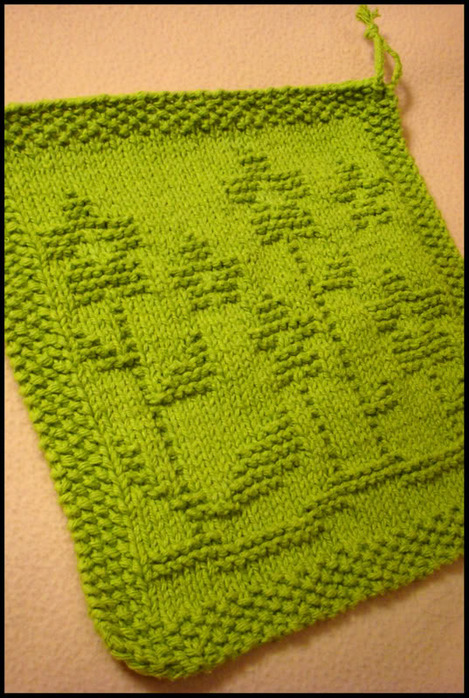 Free Knit Potholder Patterns : Christmas Potholders, free knitting and crochet patterns