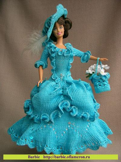 Идеи вязаной одежды для кукол Барби.  Прочитать целикомВ.