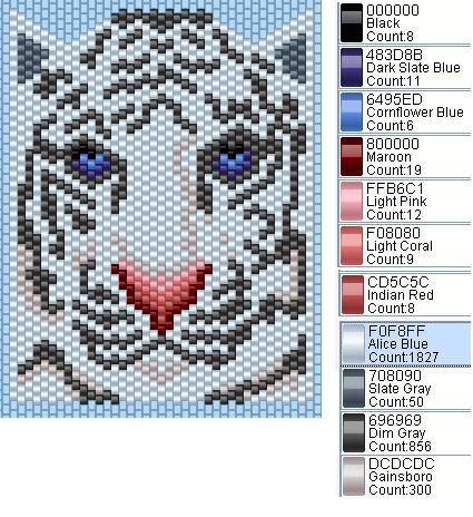 К наступающему году белого тигра.  Кулон делается либо мозаикой, либо кирпичным плетение, как вам удобней...
