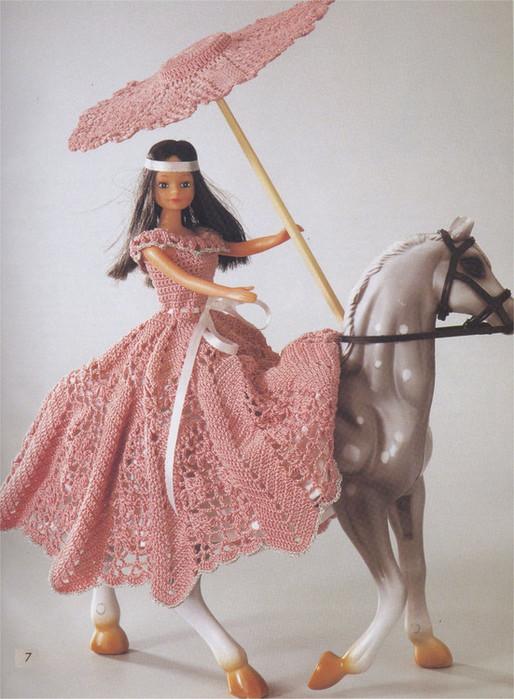 Вязание крючком одежды для кукол схемы