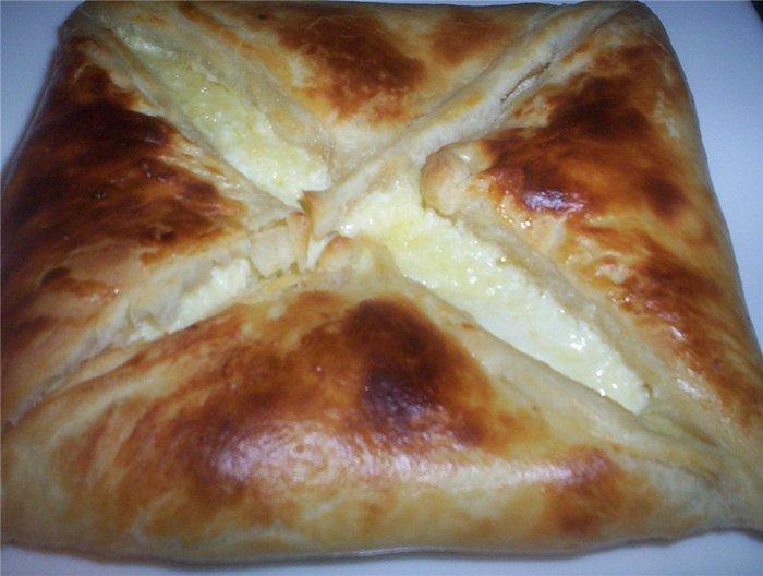 Хачапури по-аджарски рецепт из слоеного бездрожжевого