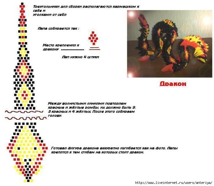 схема сборки дракона из модулей.