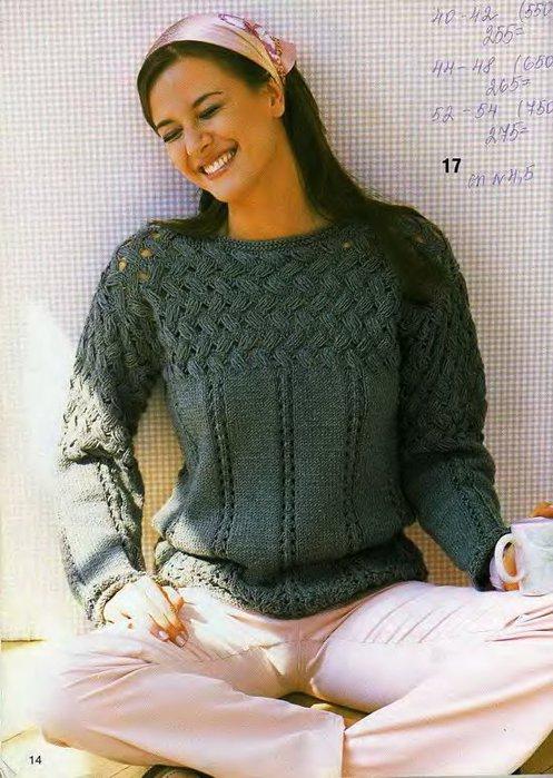 Узоры вязания свитера женского 171