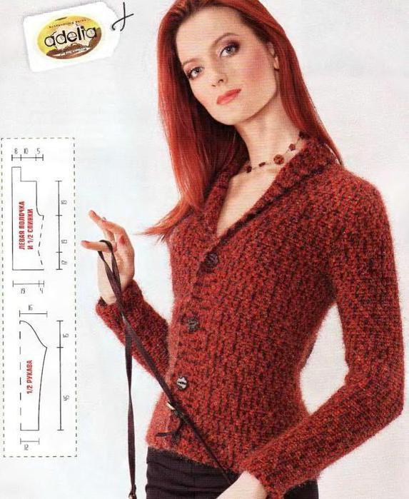 вязание спицами жакет шанель схемы и модели - Лучшие концепции стиля и моды.