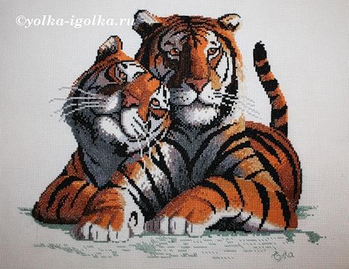 свой цитатник или сообщество!  Тигры - вышивка, много схем.  Прочитать целикомВ.