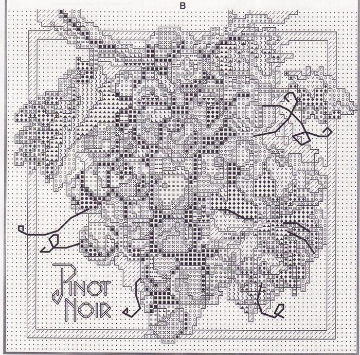 Хочу предложить вашему вниманию схемы вышивки крестом гроздей винограда.