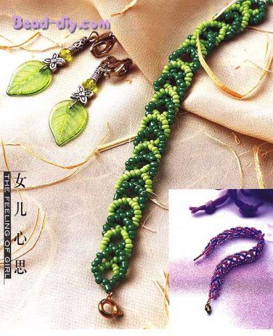 браслеты из бисера схемы плетения для начинающих фото.