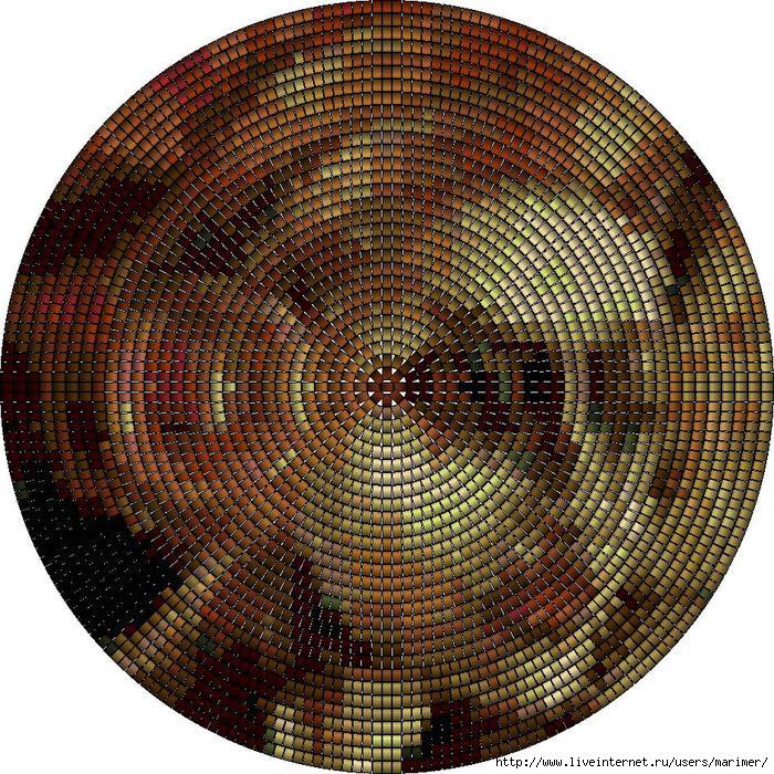 схема кругового мозаичного плетения.