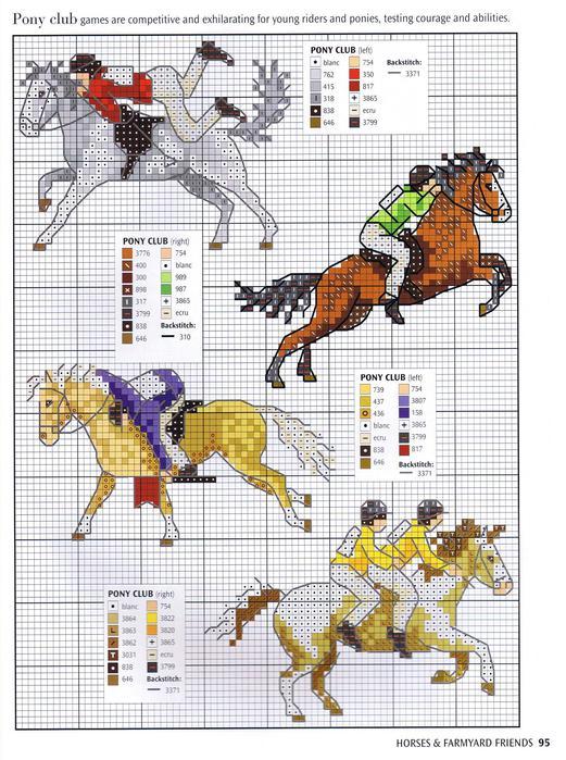 Вышивка лошадь маленькая 60