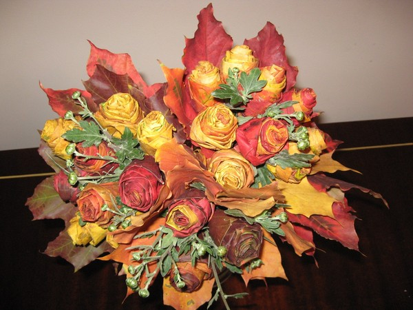 Осенний букет фото и поделки