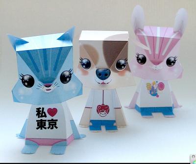 Скачать схемы к этим персонажам можно.  Игрушки из модулей оригами.  Эта девушка.  В продолжении темы объемных...