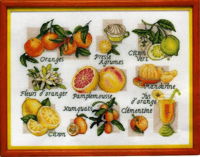 скачать схемы вышивки фрукты и