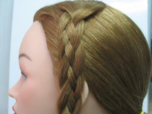 Плетение косы из пяти прядей.  От классической косы она отличается...
