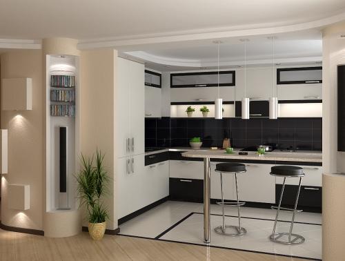 кухня в стиле ар деко.