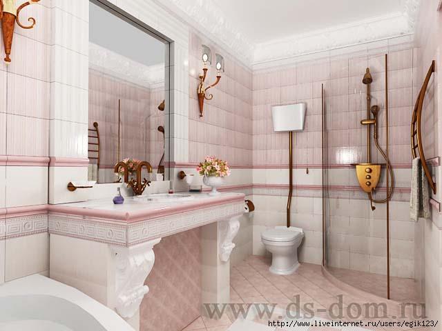 Интерьер ванной комнаты маленького