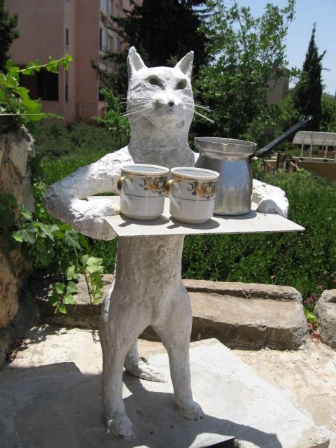 Как сделать кота из цемента для сада своими руками