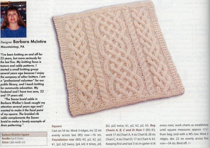 Узоры вязания одеял спицами