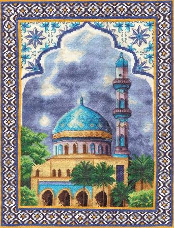 Схемы для вышивания крестом.  PANNA АС-762.  Мечеть Мода и рукоделие Электронная библиотека.