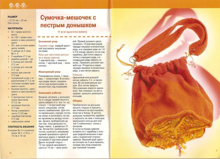 5. Еще схемы сумок, связанных на спицах.  2 сумочки с. Сумки своими...