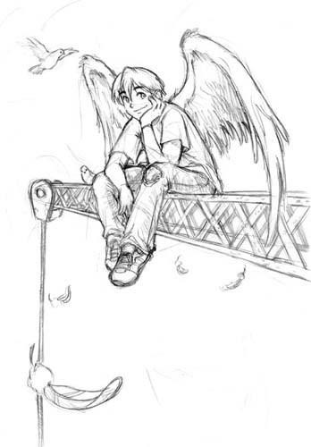 Ѐисунок нарисованный карандашомкак нарисовать ангела поэтапно карандашом, а еще: как нарисовать...