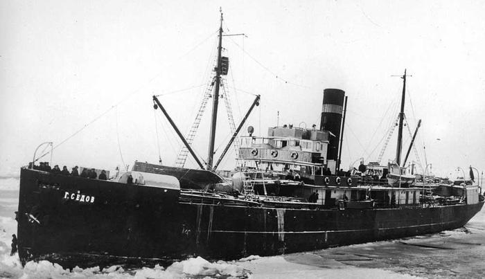 героический дрейф в Арктике ледокольно-транспортного судна «Георгий Седов»